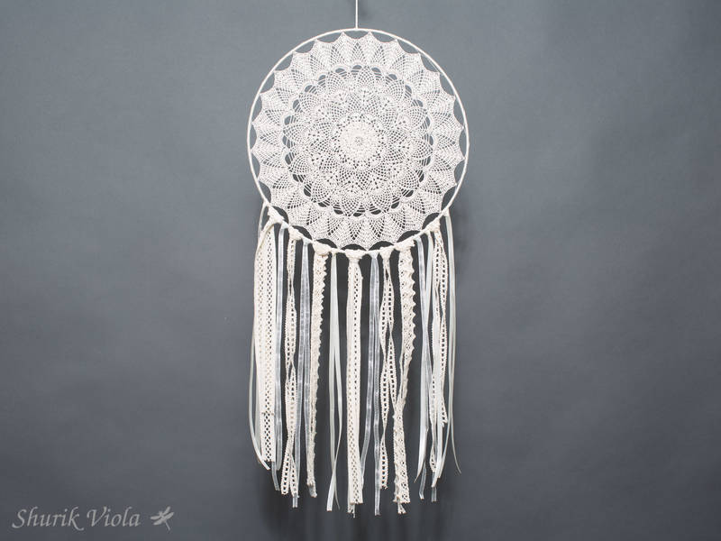 Rustic crocheted dreamcatcher / Attrape rêves rustique en crochet - Shurik Viola