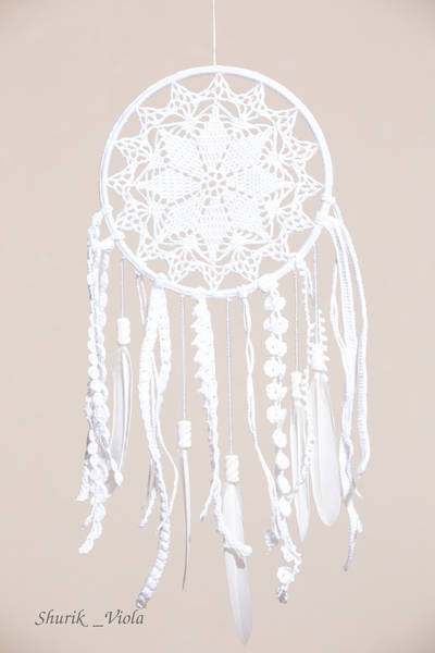 Dreamcatcher with lace / Attrape rêves en dentelle - Shurik Viola