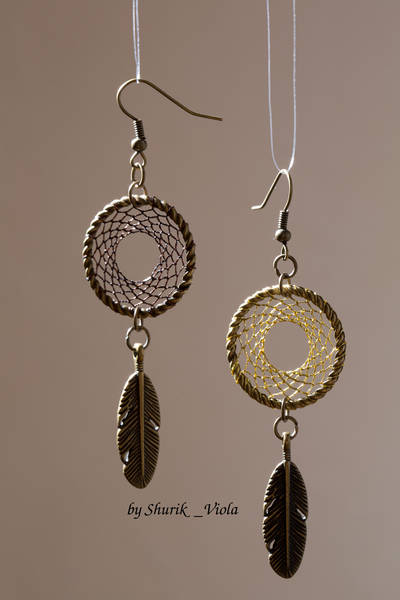 Earrings dreamcatchers / Boucles d'oreille en forme d'attrape rêves - Shurik Viola