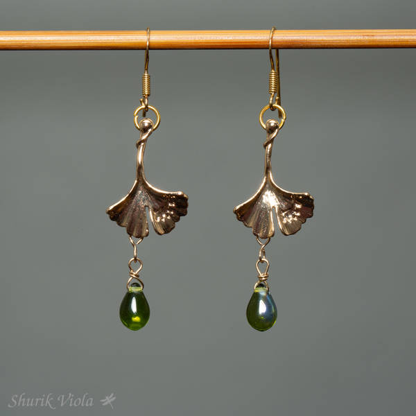 "Earrings ""Ginkgo"" / Boucles d'oreilles ""Ginkgo"" - Shurik Viola"